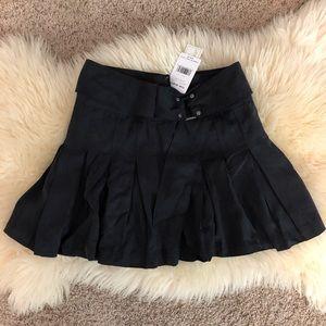 Washed black free people skirt